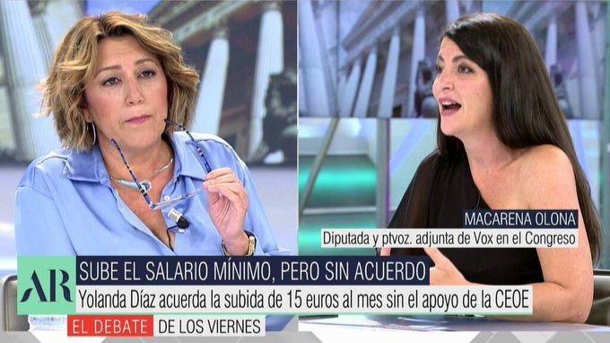 El tenso encontronazo entre Macarena Olona y Susana Díaz
