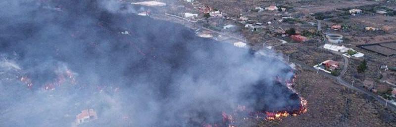 Más de un centenar de viviendas devoradas por la lava del volcán de La Palma