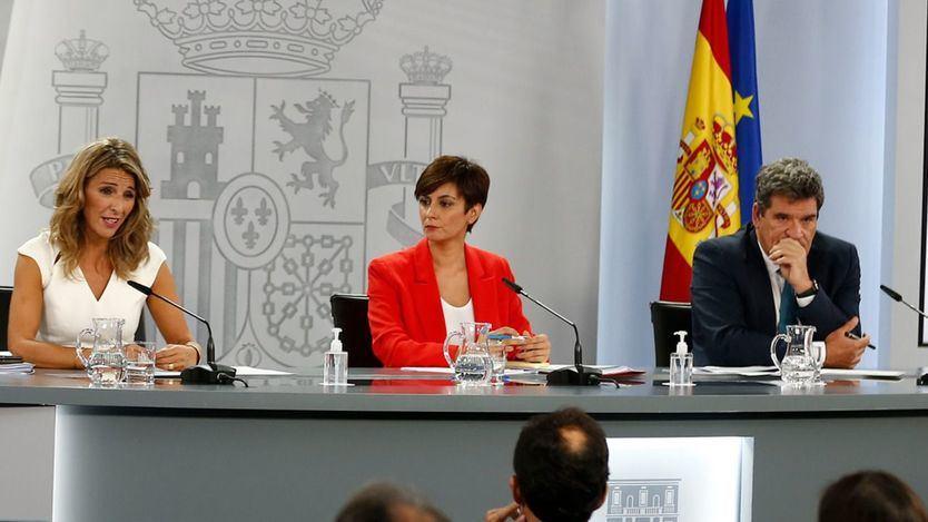 Yolanda Díaz, Isabel Rodríguez y José Luis Escrivá