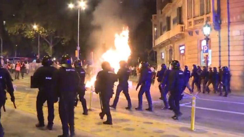 Los CDR calentaron la conmemoración del referéndum de Cataluña