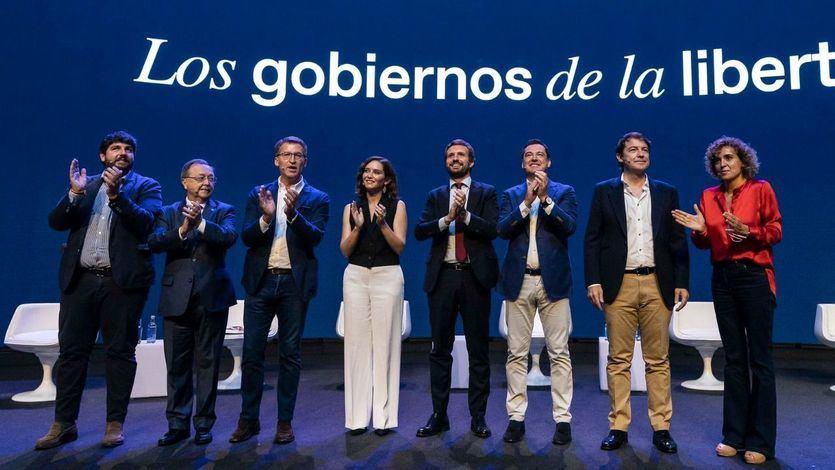 Ayuso y Almeida comparten protagonismo y estrellato en la convención del PP