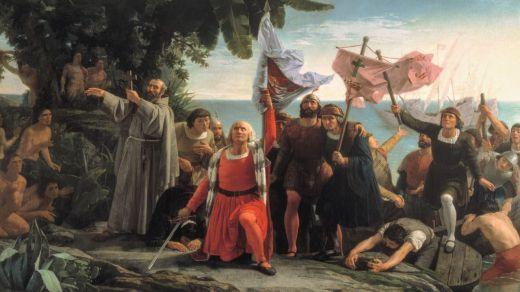 Cuadro 'Primer desembarco de Cristóbal Colón en América'