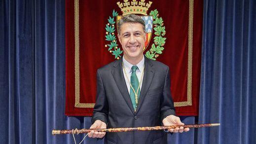 Xavier García Albiol en 2020, al conseguir el bastón de mando