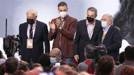 Felipe González, Pedro Sánchez y José Luis Rodríguez Zapatero