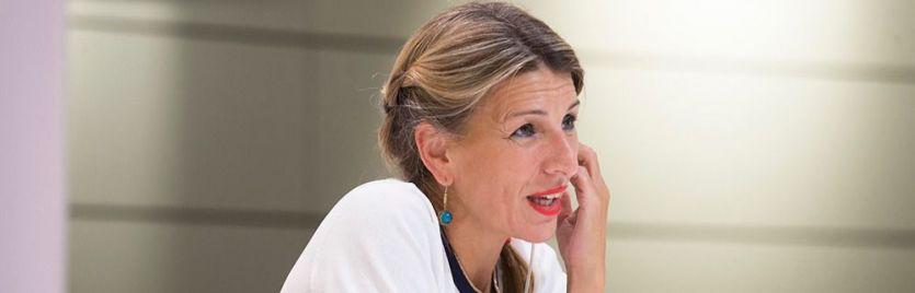 Yolanda Díaz, firme en su pulso contra el ala socialista del Gobierno por la derogación de la reforma laboral