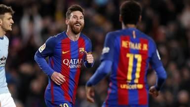 La Liga sigue igual: el Madrid golea al Eibar (1-4) y el Barça al Celta (5-0)