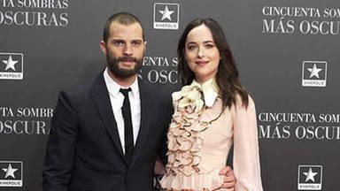 Dakota Johnson y Jamie Dornan presentan en Madrid 'Cincuenta sombras más oscuras'