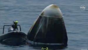 Éxito en el retorno a la Tierra de los astronautas de EEUU de la cápsula SpaceX