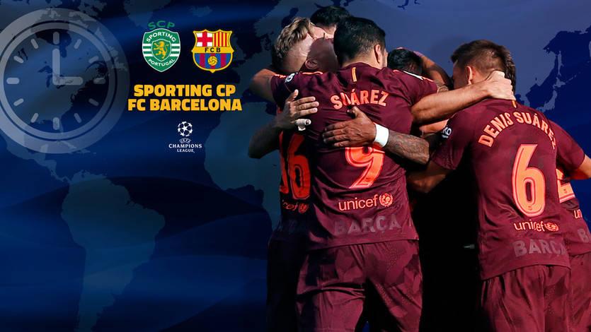 Dónde ver el Sporting de Lisboa-Barcelona y horario del partido de Champions