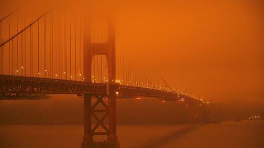 Cielos de un naranja apocalíptico en San Francisco por los incendios forestales