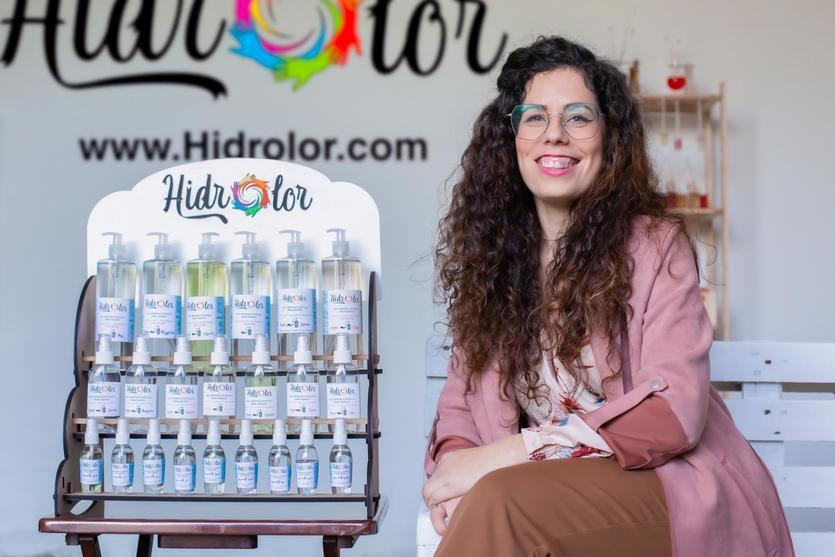 Raquel Muñoz, fundadora de la empresa de geles hidroalcohólicos Hidrolor