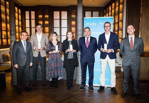 Los ganadores del premio Hotels & Tourism de CaixaBank en Madrid