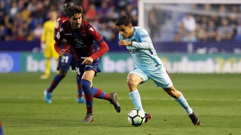 43 partidos después, el Levante acaba con la imbatibilidad del Barça (5-4)