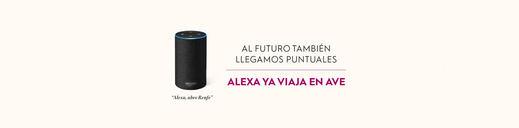 Renfe se sube al tren de Amazon Alexa para que los viajeros puedan planificar sus viajes sólo con la voz