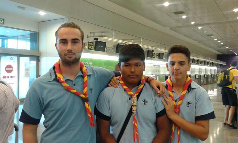 Alvaro, Juan y Camilo, tres de los castellano-manchegos scout