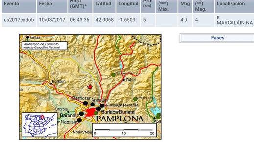 Terremoto en Pamplona: un temblor que hizo moverse camas, muebles y que dio un gran susto a los navarros