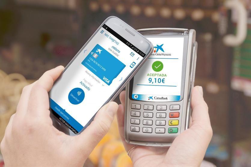 CaixaBank multiplica por 8 las operaciones de pago móvil en un año