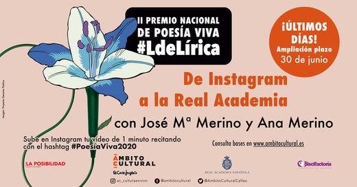 Ámbito Cultural amplía hasta el 30 de junio el plazo de inscripción para el 'II Premio Nacional de Poesía Viva'