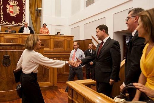 Cospedal le dice a Page que el PP hará oposición en Castilla-La Mancha
