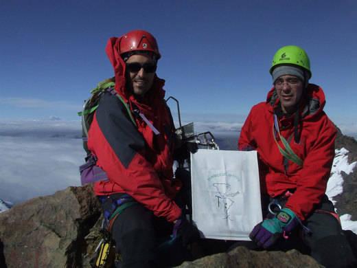 Los hermanos Romero hicieron cumbre en Ecuador en 2008