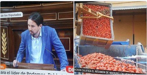 TVE cortó a Pablo Iglesias para informar de la imprescindible tomatina...