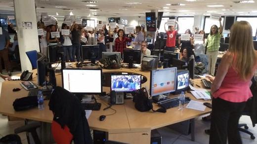 Situación límite en TVE por la línea de sus informativos: los trabajadores se rebelan tras el 1-O