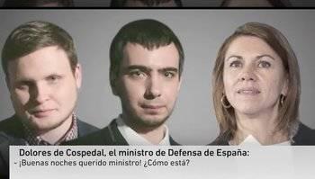 Gastan una broma a Cospedal en la que le aseguraban que Puigdemont es en verdad un 'espía ruso'