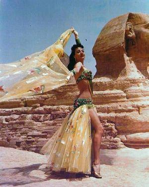 Húbose una reina de la danza oriental