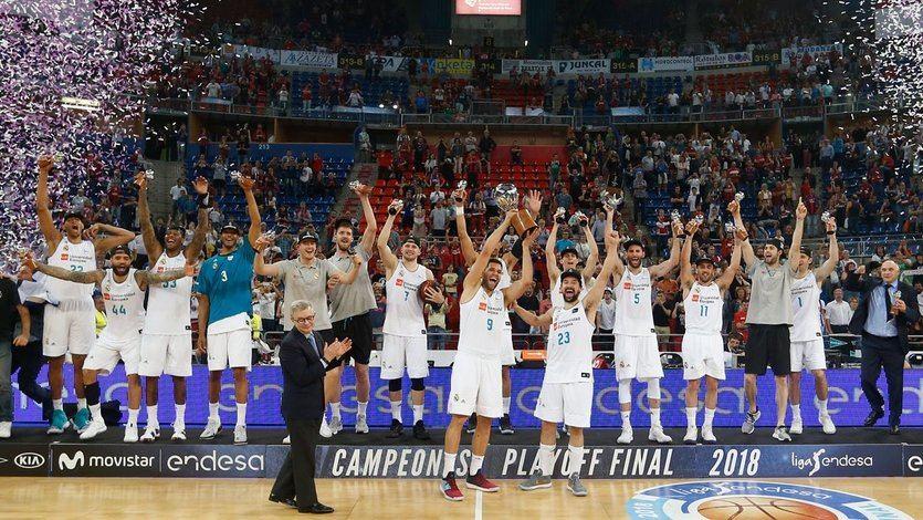 El Madrid de baloncesto despide a Doncic con un doblete tras ganar la Liga ACB