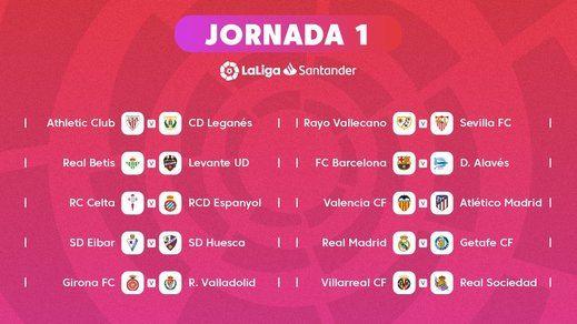 El Madrid-Barça, el 28 de octubre; llega la primera Liga asimétrica de la historia