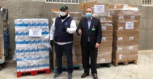 Mercadona dona a la Fundación Madrina 2,3 toneladas de pañales y alimentos de primera necesidad
