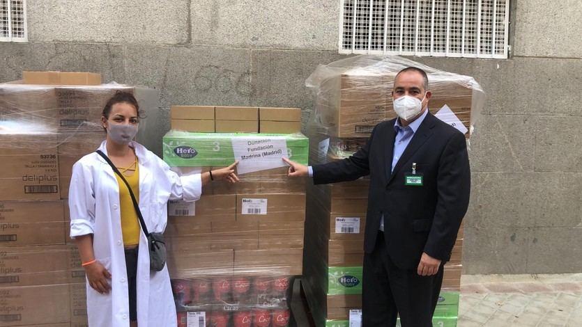 Mercadona dona a la Fundación Madrina 2,4 toneladas de pañales y alimentos de primera necesidad