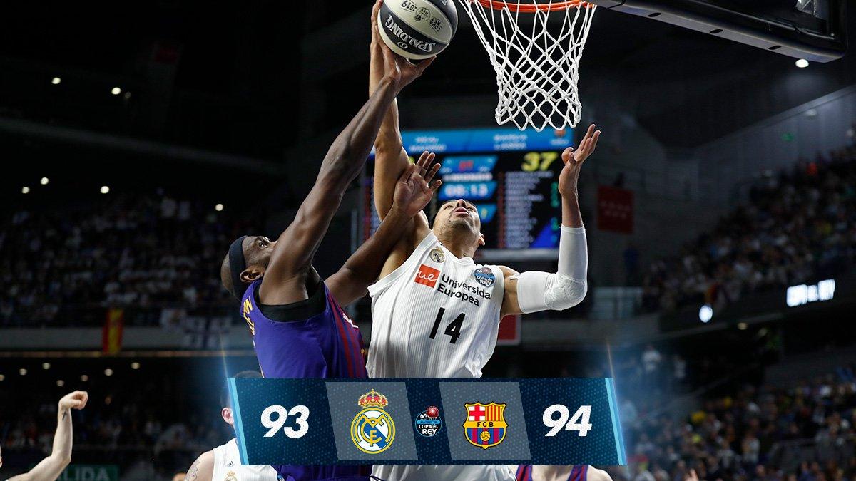 b0a167563 El Barça se lleva la Copa del Rey de baloncesto tras una polémica jugada  final (93-94)