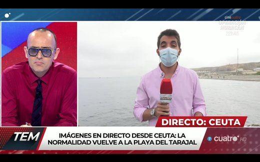 Abascal se enfrenta a un periodista en Ceuta: