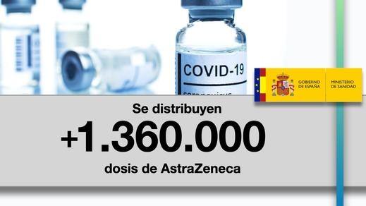 Llegan a España otras 1,36 millones de dosis de la vacuna de AstraZeneca