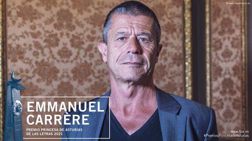 El escritor francés Emmanuel Carrère, premio Princesa de Asturias de las Letras