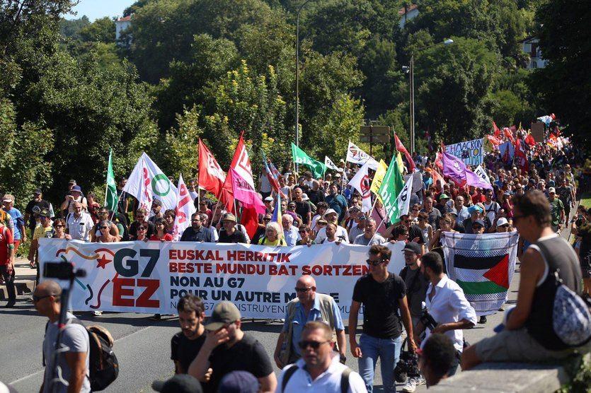 Una marcha, una contracumbre y otras protestas contra el G7