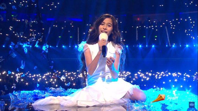 Melani consigue una meritoria tercera plaza en Eurovisión Junior 2019