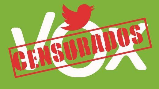 Twitter silencia a Vox por 'incitación al odio' y el partido de Abascal denuncia 'censura'