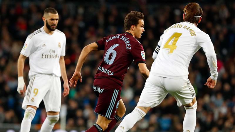 El Madrid deja escapar una victoria en el 85' tras remontar al Celta (2-2)