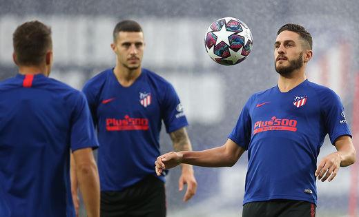El Atlético, con 25 jugadores en Lisboa para su partido contra el Leipzig
