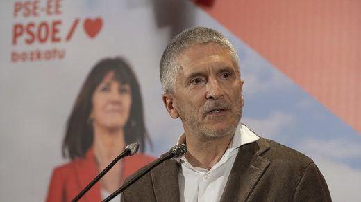 Marlaska, de juez a político mitinero: pide el voto para el PSOE en las elecciones vascas