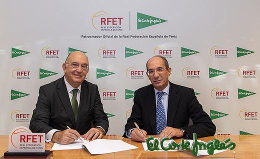 El Corte Inglés firma un acuerdo de patrocinio con la Real Federación Española de Tenis