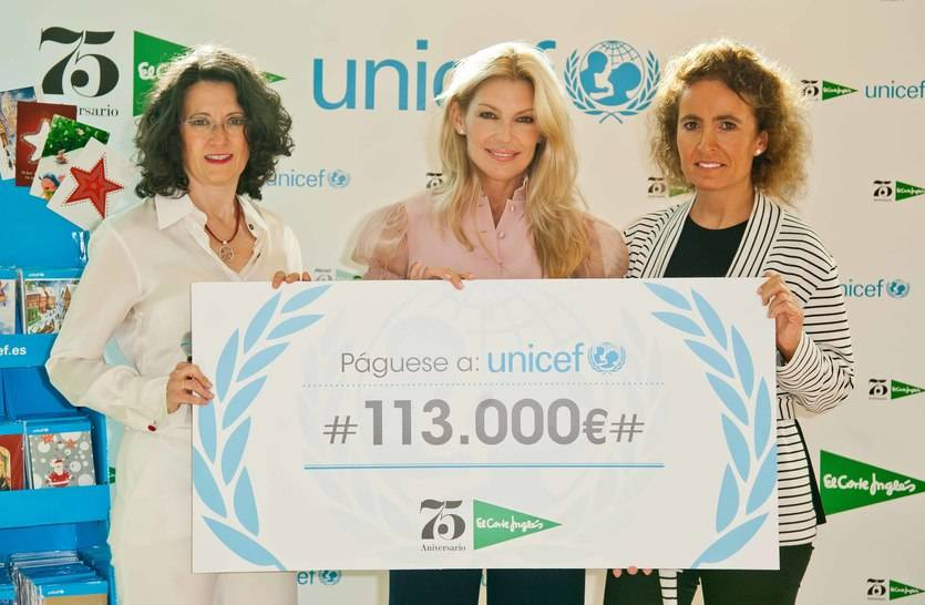 El Corte Inglés dona 113.000 euros a Unicef