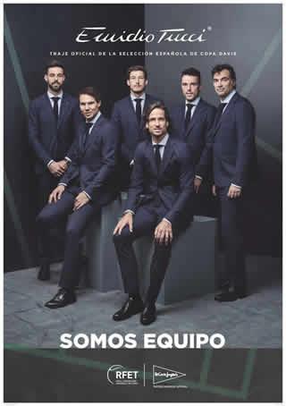 El Corte Inglés viste de Emidio Tucci a los jugadores de la Selección Española de tenis