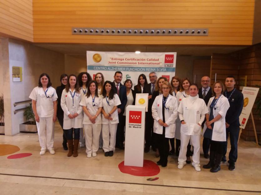 Equipo de profesionales del Centro Alzheimer Fundación Reina Sofía