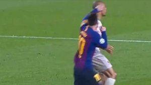 Acción de la roja de Messi