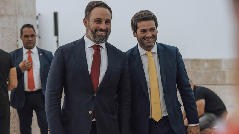 Vox cierra una alianza con el partido portugués Chega contra el 'comunismo' en la Península Ibérica