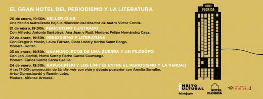 Vuelve el Hotel Florida a El Corte Inglés de Callao, un ciclo sobre periodismo y literatura