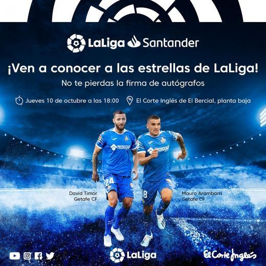 El Corte Inglés de El Bercial recibe a jugadores del Getafe CF